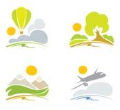 Ansammlungszeichen -- Natur u. Himmel Stockbilder