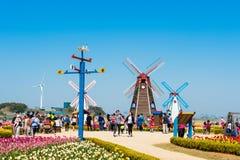 ANSAN, COREIA - 25 DE ABRIL: Festival das tulipas de Daebudo Fotografia de Stock Royalty Free