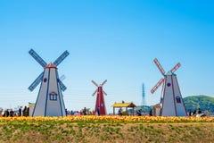 ANSAN, COREIA - 25 DE ABRIL: Festival das tulipas de Daebudo Fotografia de Stock