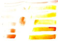 Anschlag des Gouachepinsels lokalisiert auf Weiß Stockbild