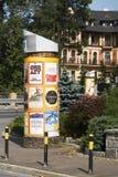 Anschlagsäule ist in der Stadt von Zakopane Stockfotografie