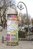 Anschlagsäule in Zakopane in Polen Lizenzfreie Stockfotografie