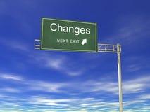 Anschlagtafel: Änderungen Stockfoto