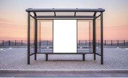 Anschlagtafel auf Bushaltestellekiosk vektor abbildung