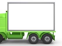 Anschlagtafel auf LKW stock abbildung