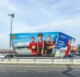 Anschlagtafel der Fluglinie Aeroflot bei Berlin Airport Tegel Lizenzfreie Stockfotografie