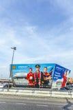 Anschlagtafel der Fluglinie Aeroflot bei Berlin Airport Tegel Stockfoto