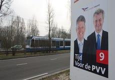 Anschlagtafel für die holländische Freiheitsparty Stockfoto