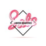 anschlagtafel Fahnen-Verkauf Geometrische Abbildung Mischungsbuchstaben Lizenzfreies Stockbild