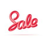 anschlagtafel Fahnen-Verkauf handschrift Mischungsbuchstaben Lizenzfreie Stockbilder