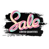 anschlagtafel Fahnen-Verkauf handschrift Mischungsbuchstaben Lizenzfreies Stockfoto