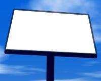 Anschlagtafel gegen Himmelhintergrund vektor abbildung