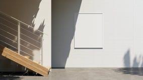 Anschlagtafel Illustration 3D freien Raumes mit dem Kopienraum für Ihre Textnachricht oder Inhalt, Spott draußen oben annoncieren stock abbildung