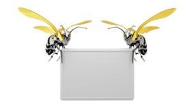 Anschlagtafelbiene Lizenzfreies Stockfoto