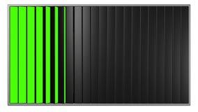 Anschlagtafeln mit den blauen und grünen Schirmen vektor abbildung