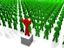 Anschluss der Leute - vor der Masse - führendes t Stockfoto