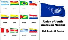 Anschluss der südamerikanischen Nationen Lizenzfreies Stockbild