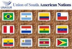 Anschluss der südamerikanischen Nationen Lizenzfreie Stockfotos