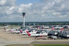 Anschluss drei, Heathrow-Flughafen Stockbild