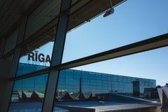 Anschluss internationalen Flughafens Rigas Lizenzfreie Stockbilder