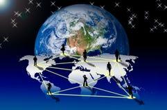 Anschluss mit Sozialnetz Lizenzfreies Stockbild