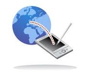 Anschluss mit Tablettecomputer lizenzfreie abbildung