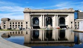 Anschluss-Station-Frontseite im Stadtzentrum gelegenes Kansas City stockbild