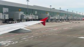 Anschluss vier in Changi-Flughafen stock footage