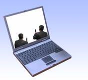 Anschlussfähigkeit zwischen Geschäftsmännern lizenzfreies stockfoto