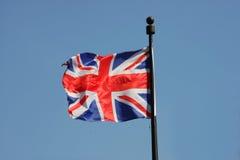 Anschlussmarkierungsfahne von Großbritannien stockfoto