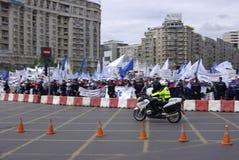 Anschlussprotest Stockfoto