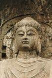 anscient佛教洞雕象 免版税库存照片