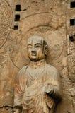 Anscient buddhistische Höhlestatue. stockfotos