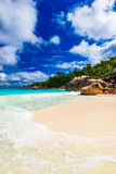 anseölazio praslin Seychellerna Arkivbilder