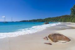 Anse拉齐奥,塞舌尔群岛 免版税图库摄影