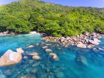 Anse拉齐奥,塞舌尔群岛 免版税库存图片