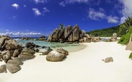 Anse椰树海滩,塞舌尔群岛3 免版税库存图片