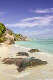 Anse źródła d'Argent plaża, losu angeles Digue wyspa, Seychelles Obraz Royalty Free