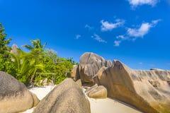 Anse źródła d ` Argent plaża, Seychelles Fotografia Stock