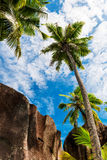 Anse źródło d'argent, losu angeles Digue wyspa Seychelles obrazy royalty free