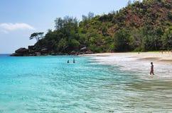 anse νησιά mahe αμμώδεις Σεϋχέλλες παραλιών soleil τροπικές Στοκ εικόνα με δικαίωμα ελεύθερης χρήσης