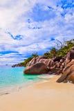 anse παραλία Λάτσιο Σεϋχέλλε Στοκ εικόνα με δικαίωμα ελεύθερης χρήσης