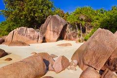 anse παραλία Λάτσιο Σεϋχέλλε Στοκ φωτογραφίες με δικαίωμα ελεύθερης χρήσης