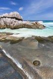 Anse Aux Cedres, La Digue, Seychelles Royalty Free Stock Image