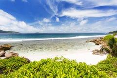 Anse Banane, Ла Digue, Сейшельские островы Стоковое Изображение RF