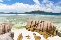 Anse Banane, La Digue, Seychellerna Royaltyfri Fotografi