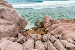 Anse Banane in La Digue, Seychelles Royalty Free Stock Image