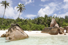 Anse Coco. Dream Beach, Anse Coco, La Digue, Seychelles, Indian Ocean Stock Image