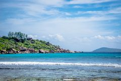 Anse Coco. In La Digue, Seychelles Royalty Free Stock Images