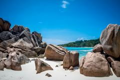 Anse Coco. In La Digue, Seychelles Royalty Free Stock Photography